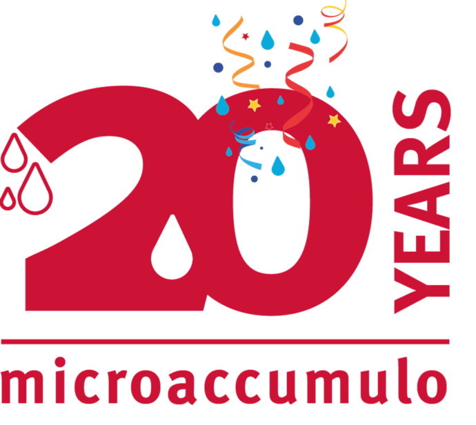 logo per i 20 anni della tecnologia del microaccumulo