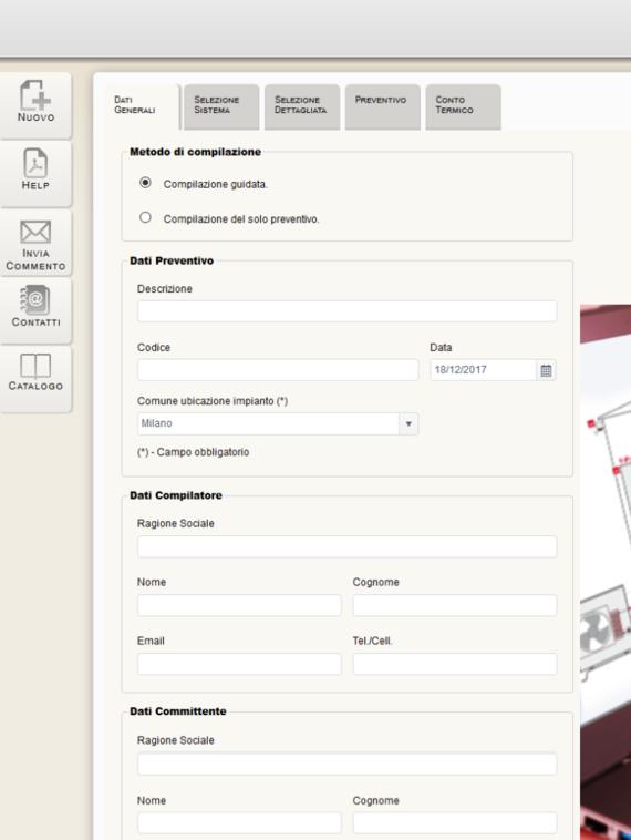 Registrazione Comfort Configurator